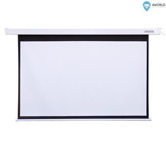 """4World Projekční plátno elektrické DO 300x169 136"""" 16:9"""