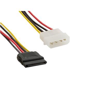4World Napájecí kabel Molex M-SATA F 15cm