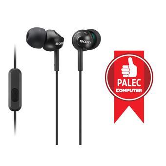 SONY sluchátka MDR-EX110AP, handsfree, černé
