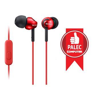 SONY sluchátka MDR-EX110AP, handsfree, červené