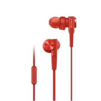 SONY sluchátka MDR-XB55AP, červená