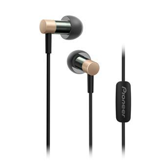Pioneer SE-CH3T špuntová sluchátka, Hi-Res, mikrofon, zlatá