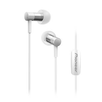 Pioneer SE-CH3T špuntová sluchátka, Hi-Res, mikrofon, stříbrná