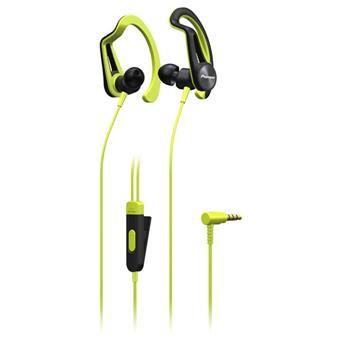 Pioneer závěsná sportovní sluchátka žlutá