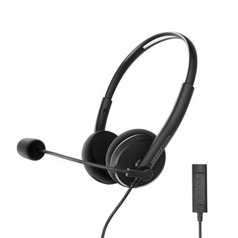 Energy Sistem Headset Office 2+, komunikační sluchátka s mikrofonem, ovládání hlasitosti a ztlumován