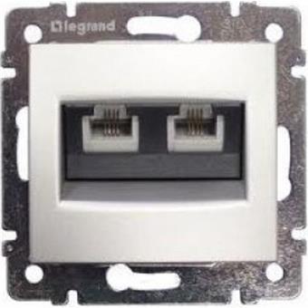 Valena zásuvka dat. 2-násobná RJ45 Cat.6 FTP bílá
