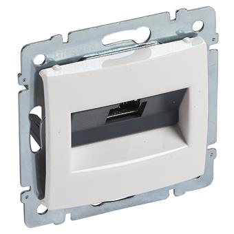 Valena zásuvka datová 1xRJ45 STP 10G bílá