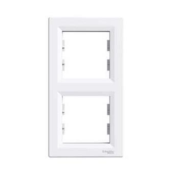 Asfora - Rámeček dvojnásobný vertikální - bílá