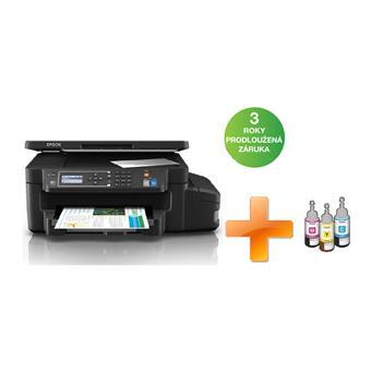 EPSON L605, A4, 4800x1200 dpi, 33/20 ppm, Wifi,USB + 3 barevné lahvičky