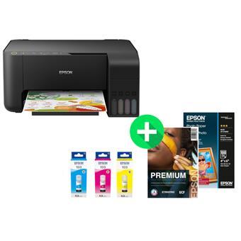 Epson L3150, A4, Wi-Fi , 33ppm, color + 3x Inkoust + 100x Foto + 500x Papír