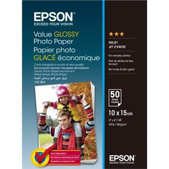 EPSON Value Glossy Photo Paper 10x15cm 50 sheet