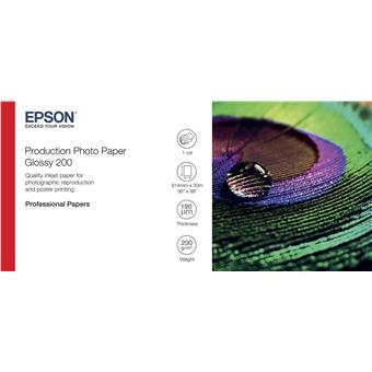 """EPSON Production Photo Paper Glossy 200 36"""" x 30m"""