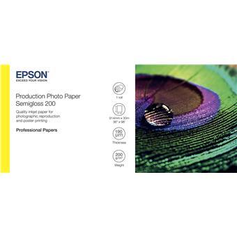 "EPSON Production Photo Paper Semigloss 200 36""x30m"