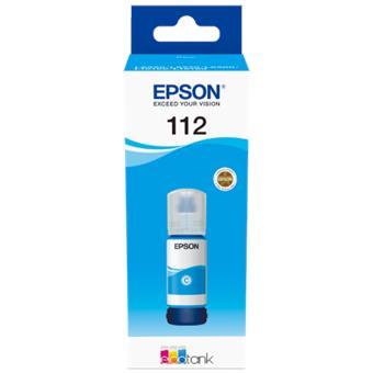 Epson 112 EcoTank Pigment Cyan ink bottle