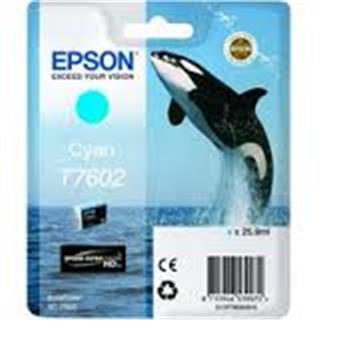 Epson T7602 Ink Cartridge Cyan