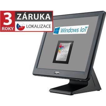 """AerPOS PP-9635AV, 15"""" LCD LED, 350 cd/m2, J1900 2,42GHz, 4GB RAM, 120GB SSD, Win 10 IoT, rámeček,čer"""