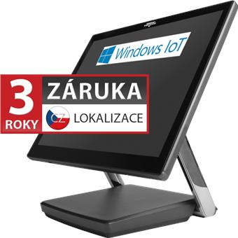 "XPOS XP-3685, 15"" 4:3 LCD LED, 400 cd/m2, i3-7100U, 4GB RAM, 120GB M.2 SSD, Win 10 IoT, kap., šedá"