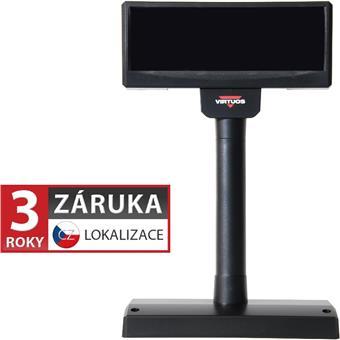 VFD zákaznický displej Virtuos FV-2029M 2x20 9mm, USB, 12V, černý