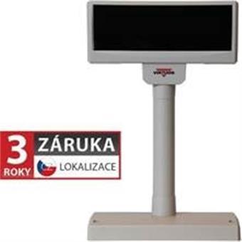 VFD zákaznický displej Virtuos FV-2029M 2x20 9mm, serial (RS-232), 12V, béžový