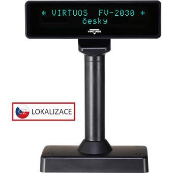 VFD zák.displej FV-2030B 2x20, 9mm,Serial, černý