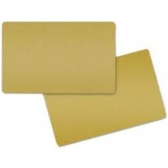 COLOR PVC CARD - GOLD METALLIC, 30 MIL (500 CARDS)