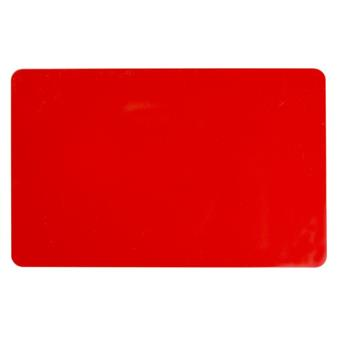 COLOR PVC CARD - RED, 30 MIL (500 CARDS)