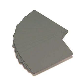 ZEBRA COLOR PVC CARD - SILVER METALLIC, 30 MIL, 500 ks