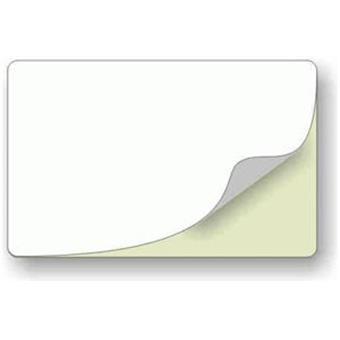 Bílé samolepící plastové karty - 500ks