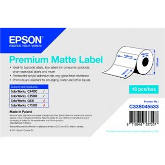 Premium Matte Label -102mm x152mm, 225 labels