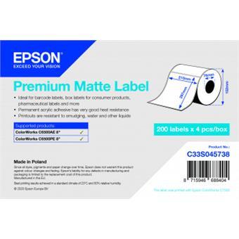 Premium Matte Label 210x297 mm, 200 lab