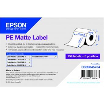 PE Matte Label 105 x 210mm, 273 lab