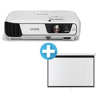 3LCD EPSON EB-W41 WXGA 3600 Ansi 15000:1 + plátno Aveli 200 x 125