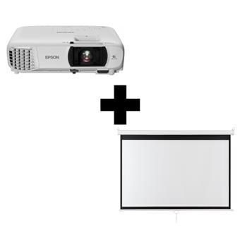 3LCD Epson EH-TW650 Full HD 3100 Ansi 15000:1 + plátno Aveli 200 x 125