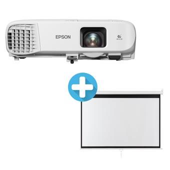 3LCD EPSON EB-980W WXGA 3800 Ansi 15000:1 + plátno Aveli 200 x 125