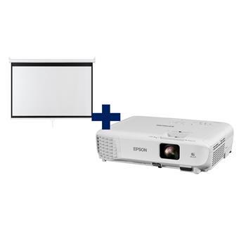 3LCD Epson EB-W06 WXGA 3700 Ansi,16:10 + plátno Aveli 200 x 125