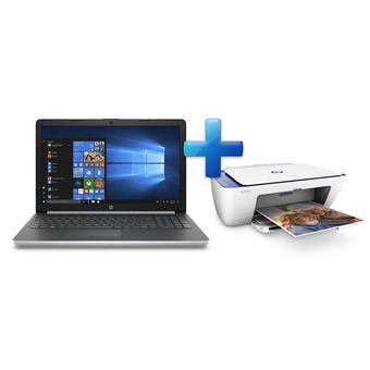 HP 15-da0003nc i3-7020U/4GB/1TB+128SSD/DVD/2RServis/W10-silver + HP DeskJet 2630