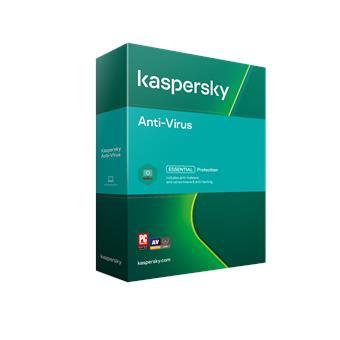 Kaspersky Anti-Virus 1x 1 rok Nová + Safe Kids 6 měsíců 2021 BOX