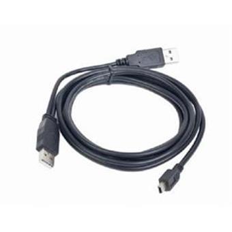 GEMBIRD USB A-MINI 5PM 2.0 0,9 m DUÁLNÍ - extra napájení